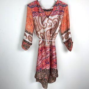 Zara Bohemian Tunic Dress w/ Pockets Sz. M